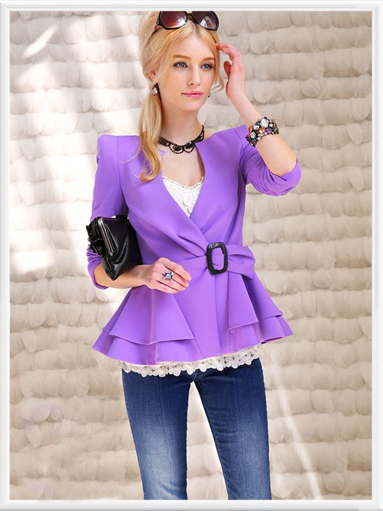 Morpheus Boutique  - Purple Deep V Long Sleeve Layer Jacket, CA$111.78 (http://www.morpheusboutique.com/purple-deep-v-long-sleeve-layer-jacket/)