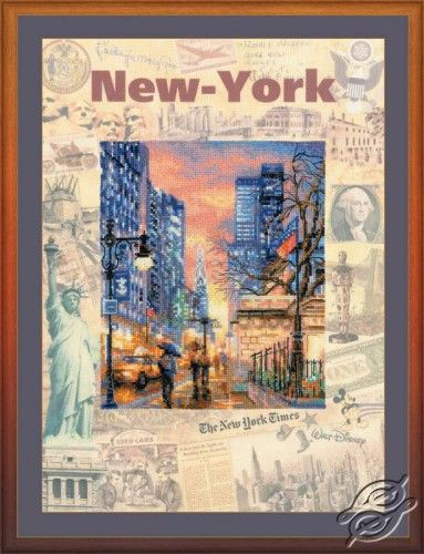 Cities of the World. New-York - Cross Stitch Kits by RIOLIS - PT-0025
