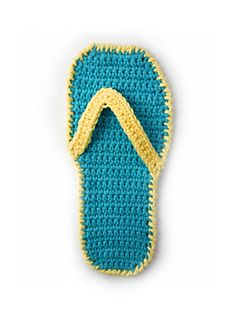 Flip-flop dishcloth..Such cute fun,and there's a free pattern!!