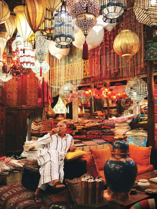 I would love to explore a souq (also known as open-air marketplace) and see the variety of Moroccan lanterns. What a lovely way to light up your life with the exotic colours of Morocco through a beautifully made lantern? - Maroc Désert Expérience tours http://www.marocdesertexperience.com