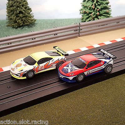 #Micro #scalextric pair of 1:64 cars - #ferrari f430 # 62 & # 31,  View more on the LINK: http://www.zeppy.io/product/gb/2/381655885489/