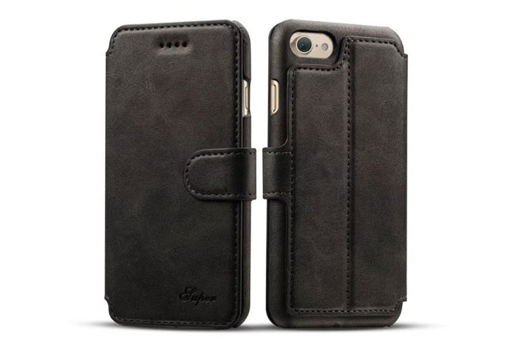 best Fashion iphone 7 Cases leather wallet black