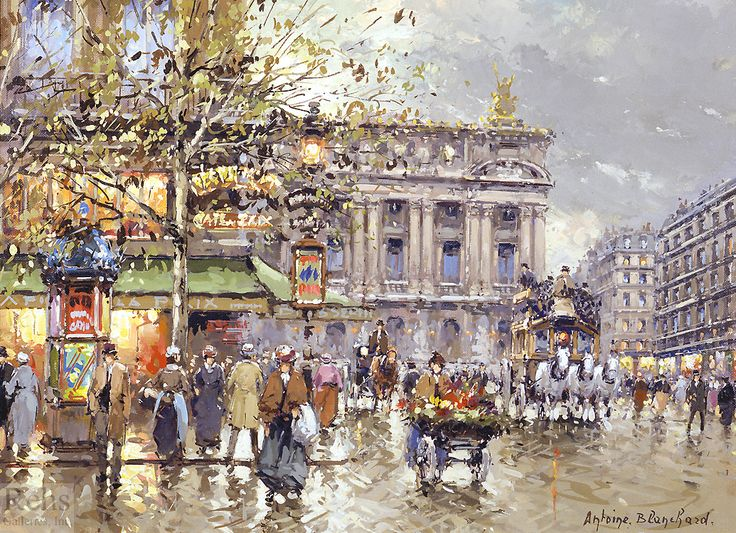 Antoine Blanchard Cafe de la Paix. Opera
