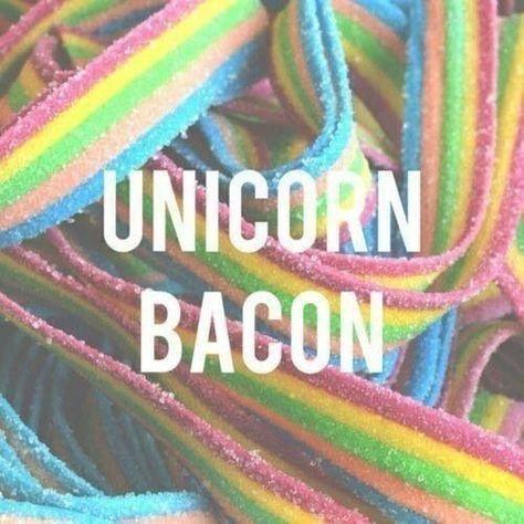 Unicorn bacon. Unicorn themed birthday party for girls