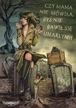 "A fan art piece for ""Dora Wilk"" book by Aneta Jadowska"
