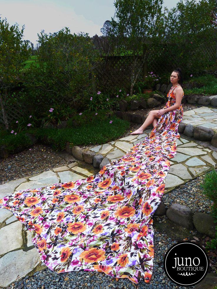 The Aurai Gown, 4m train of chiffon. $170NZD www.facebook.com/junoboutiqueNZ