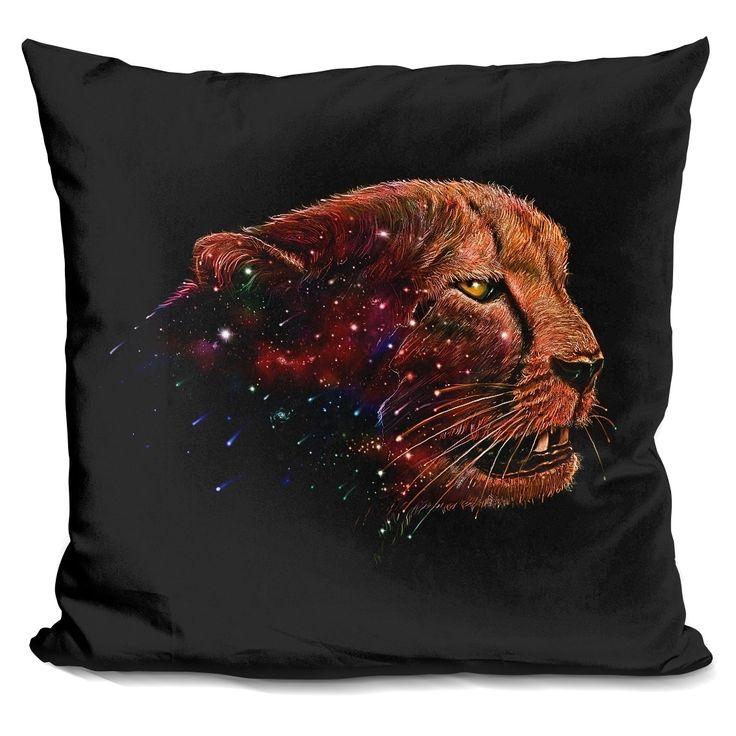 Lilipi Space Cheetah Decorative Accent Throw Pillow