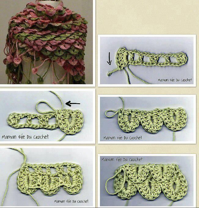 Everything to Create ... : Fish scale point | crochet | Pinterest ...