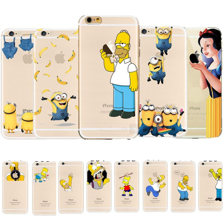 Transparent Cartoon Funny The Simpsons Minion Soft Silicone TPU Clear Phone Case for iPhone 5 5s se 6 6s 6plus 6splus 7 7plus //Price: $3.97 & FREE Shipping //     #hashtag3