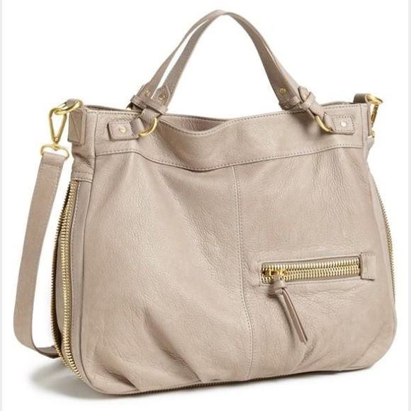 Steven by Steve Madden 'Hugo' Satchel Steven by Steve Madden 'Hugo' large sized satchel in great preloved condition. Taupe pebbled leather composes a chic & slouchy satchel w/ a ziparound gusset for additional capacity. Very clean, no tears/rips/stains/scuffs; however, there are pen marks located at the bottom of the interior & shown in photo #4. Steven by Steve Madden Bags Satchels