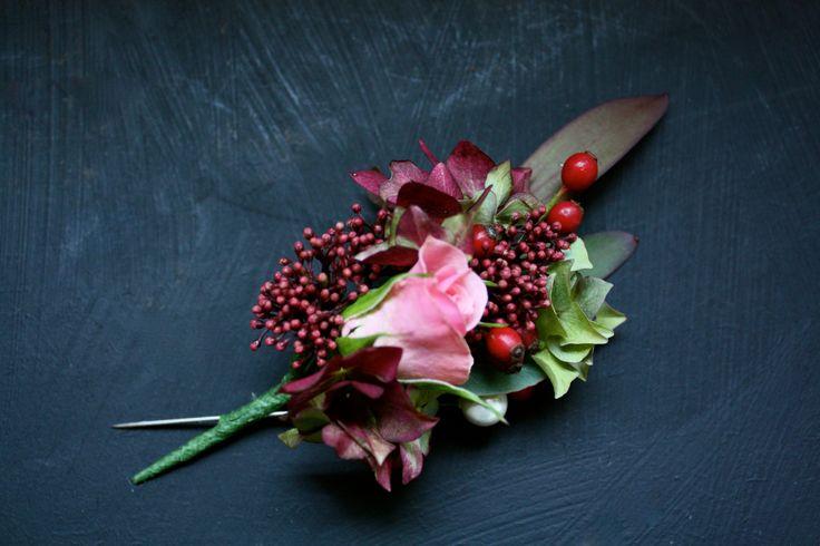 Autumnal buttonhole.
