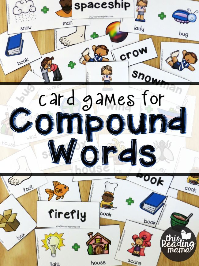 FREE Card Games for Compound Words - This Reading Mama
