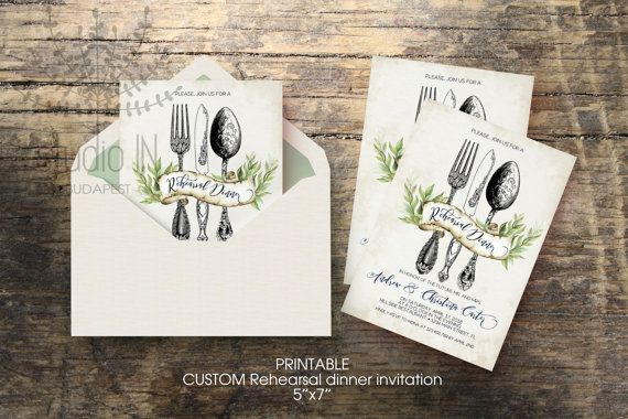 Wedding Rehearsal Dinner invitation, custom printable 5x7, rustic rehearsal…