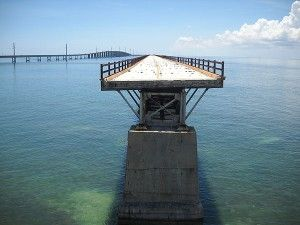 This gap in the Old Seven Mile Bridge, just south of Pigeon Key, prevents folks from reaching the other 5.8 mile section.