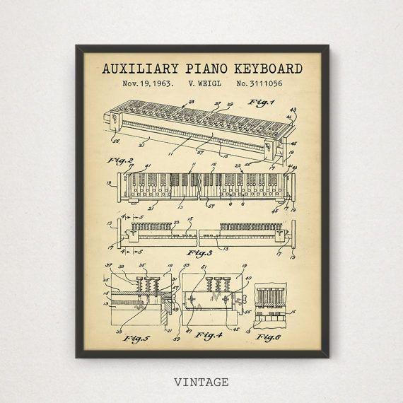 Auxiliary Klaviertastatur Patent Kunst digitale Download