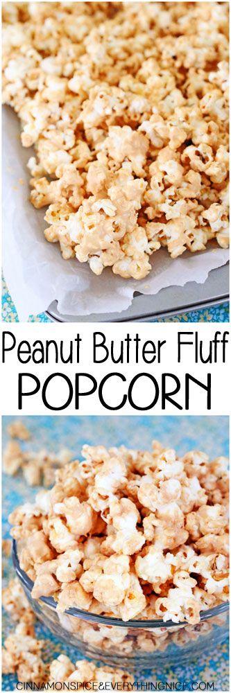 Peanut Butter Fluff Popcorn