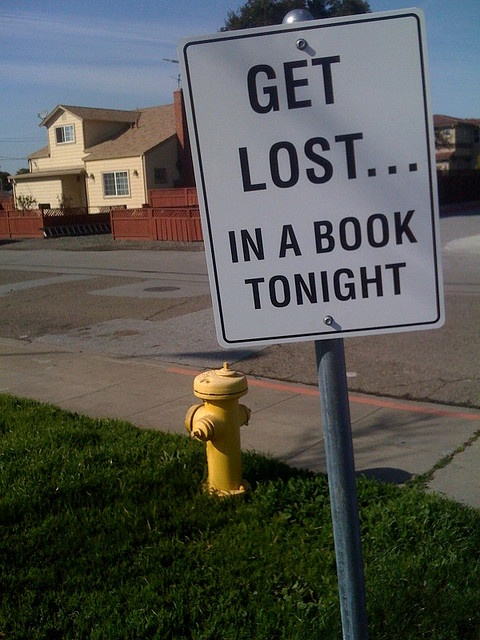 Get lost... in a book tonight