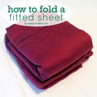 I must admit, it took me a while to learn how to fold a fitted sheet. Fitted sheets in my house were halfheartedly folded in to a tall squarish lump and shoved into the closet you quickly close (be…
