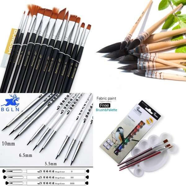 1piece Handmade Squirrel S Hair Artist Watercolor Paint Brush