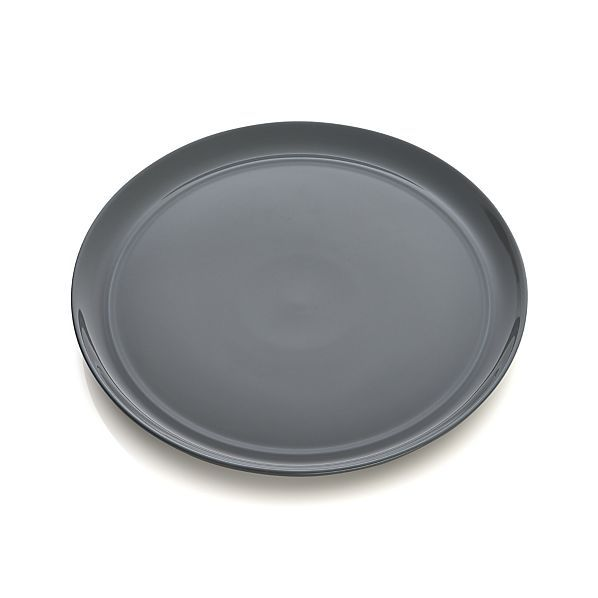 Hue Dark Grey Dinner Plate  | Crate and Barrel