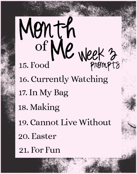 Month of Me prompt week 3 #monthofme