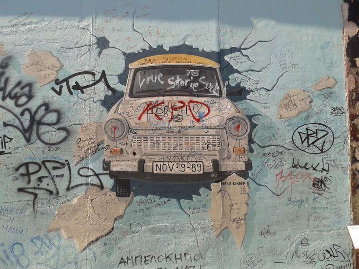 #art #auto #berlin #berlin mauer #berlin wall #communism #deutschland #east germany #east side gallery #german #oldtimer #socialism #street art #the trabant automobile #trabi