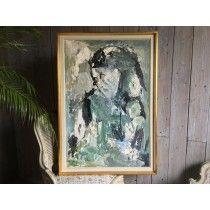 Hans Osswald, Abstraktes Gemälde in Öl auf Leinen Bernhardts Interior