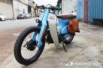 Custom Cub with Leather Saddlebag