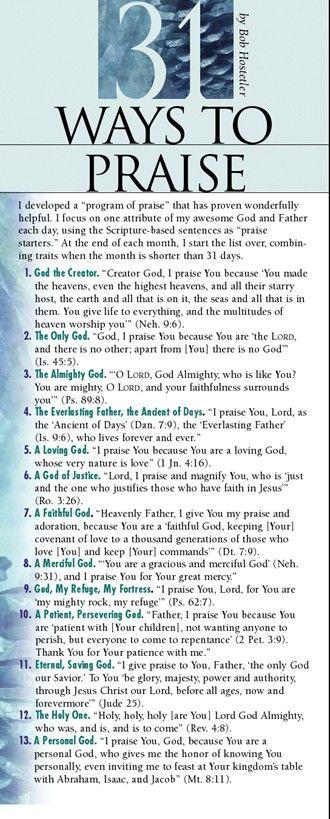 31 Ways to Praise 50-pack