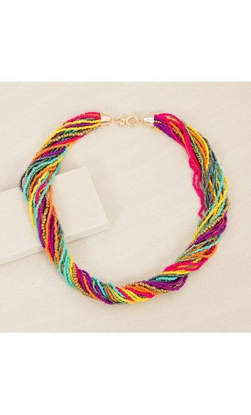 Twisted Seed Bead Moroccan Short Necklace
