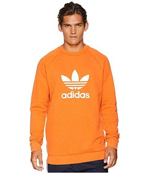 adidas Originals Trefoil Crew Sweatshirt für Damen Orange