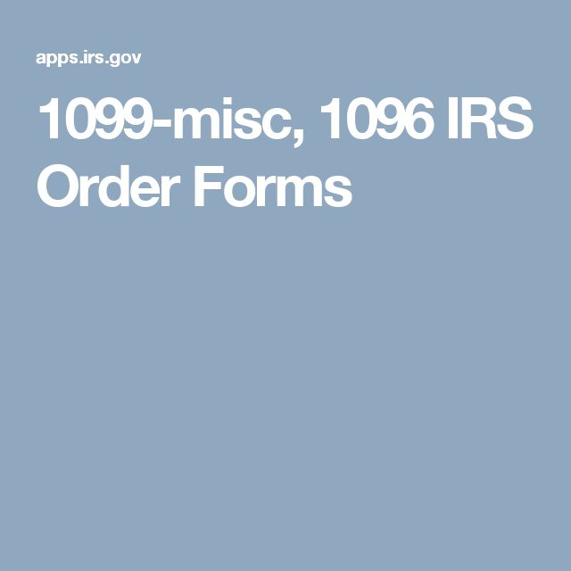 1099 Misc 1096 Irs Order Forms Taxes Pinterest Order Form And