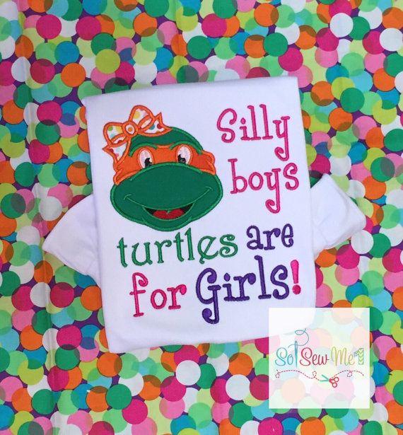 Girl Ninja Turtle Shirt Silly Boys Ninja Turtle Shirt by SoSewMe1