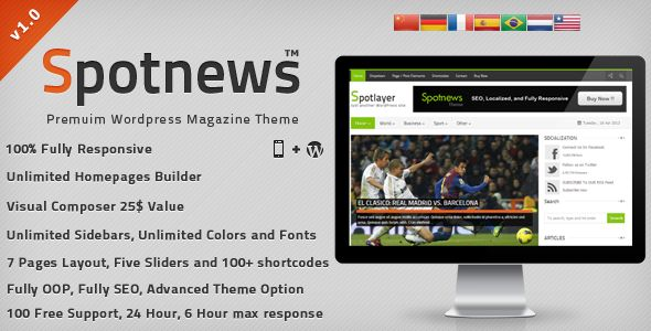 Spotnews - Responsive WordPress News,Magazine (Blog / Magazine)