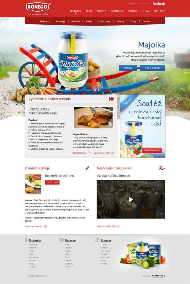 Webové stránky společnosti Boneco a.s.