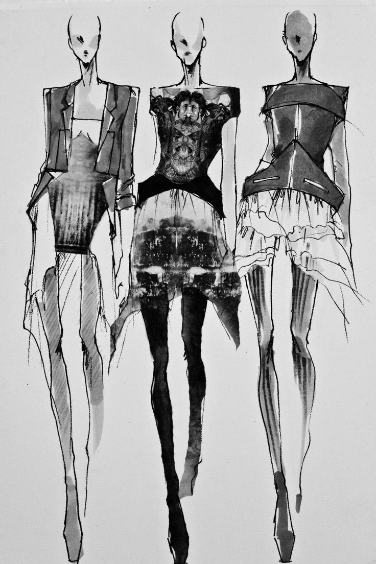 Fashion Sketchbook - fashion design drawings; dress sketches; fashion illustration // Peter Do