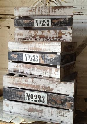distressed white and black crates with No 233 on them  Urban Cottage Location & Hours  4602 Penn Avenue Pittsburgh PA 15224 Phone: 412.683.1950
