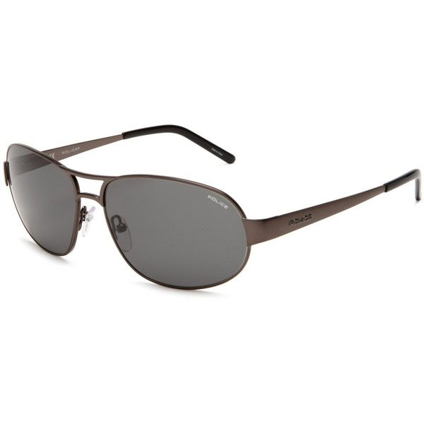 Police S8565600627 Aviator Sunglasses ❤ liked on Polyvore featuring accessories, eyewear, sunglasses, police sunglasses, metal frame glasses, adjustable glasses, uv protection glasses and aviator style sunglasses