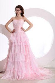 größzügiges Brautkleid Lace Ärmellos A Linie BH Kragen mit Lace und Perlen dekorietes Brautkleid
