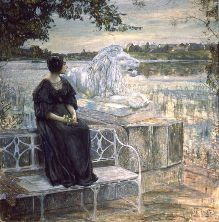 """Isaak Brodsky """"The Artist's Wife on the Terrace"""" (1908)"""