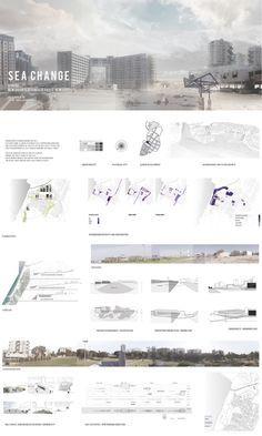 architecture presentation layout _ Sea Change - Edge of the sea by Dalia Munenzon