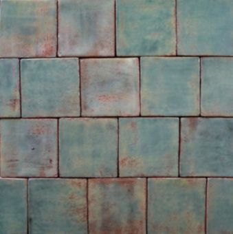 """water baby"" handmade terracotta tile"