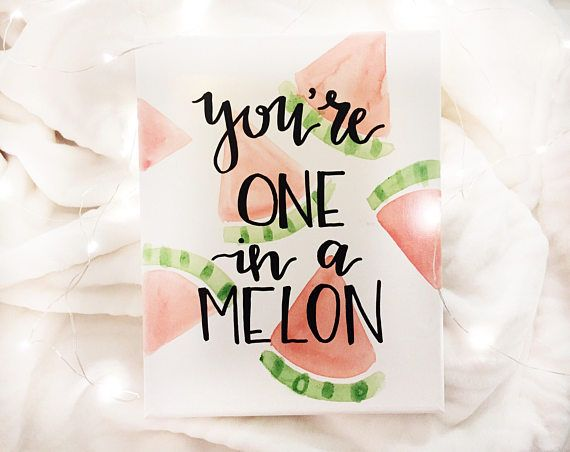 You're one in a melon sorority canvas big little week