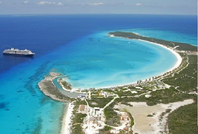 Aerial View of Half Moon Cay Bahamas