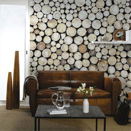 Décor mural Stack of Wood – 4Murs