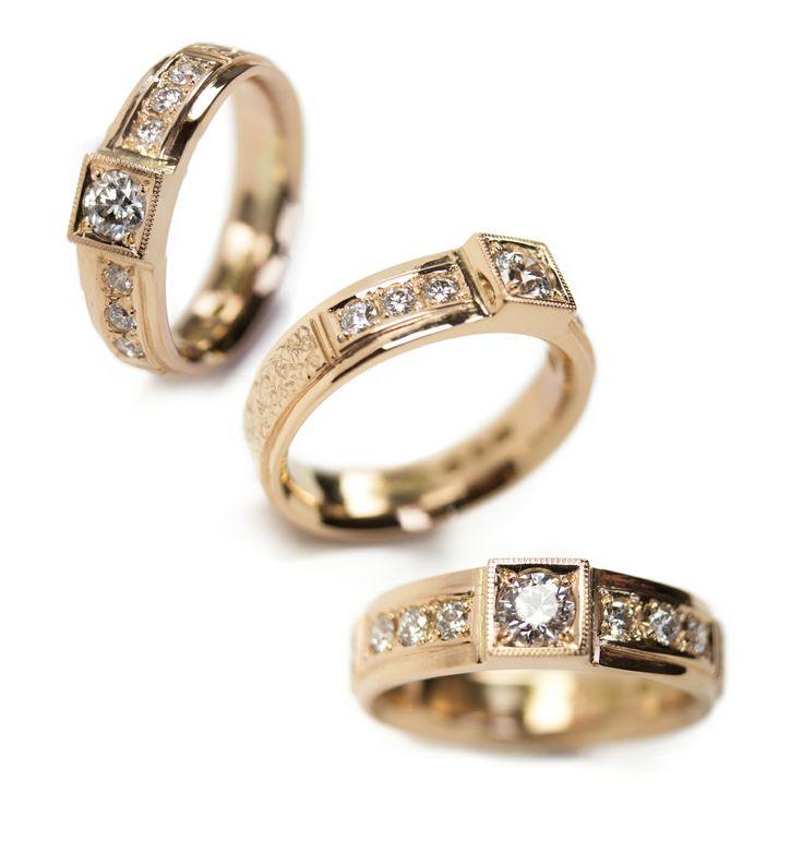 """Katerina"" <3  585o/oo gold, 6x0,03ct tw/vs & 0,21ct tw/si diamonds."