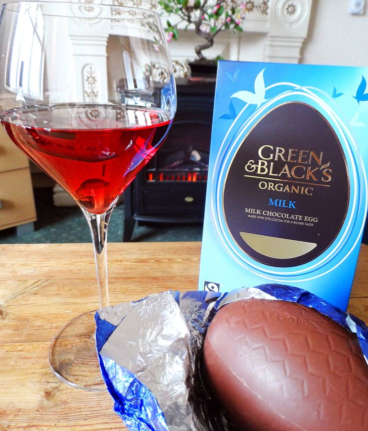 Easter treat! Blush rosé wine with Green & Black's organic chocolate