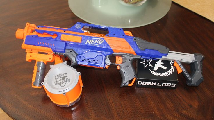 nerf rapidstrike cs-18 ver 2.0 with dorm labs high voltage battery mod kit