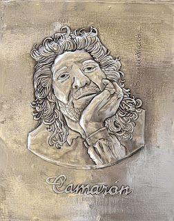 """ArteyMetal: Retrato """"Camarón de la Isla"""""""