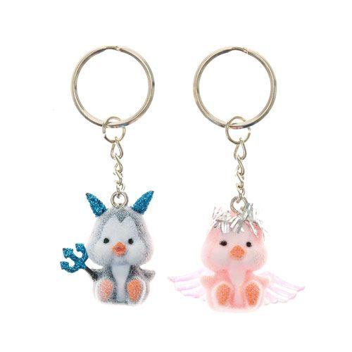 BFF Angel and Devil Penguin Keyrings